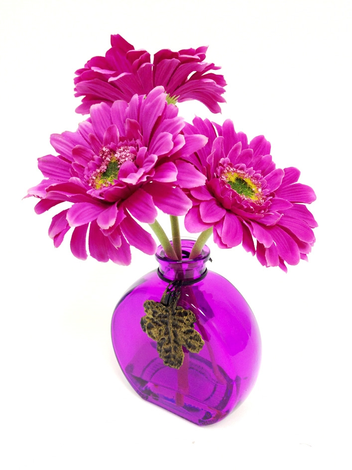 Buy online 9 purple gerbera silk flower arrangement 9 purple gerbera silk flower mightylinksfo