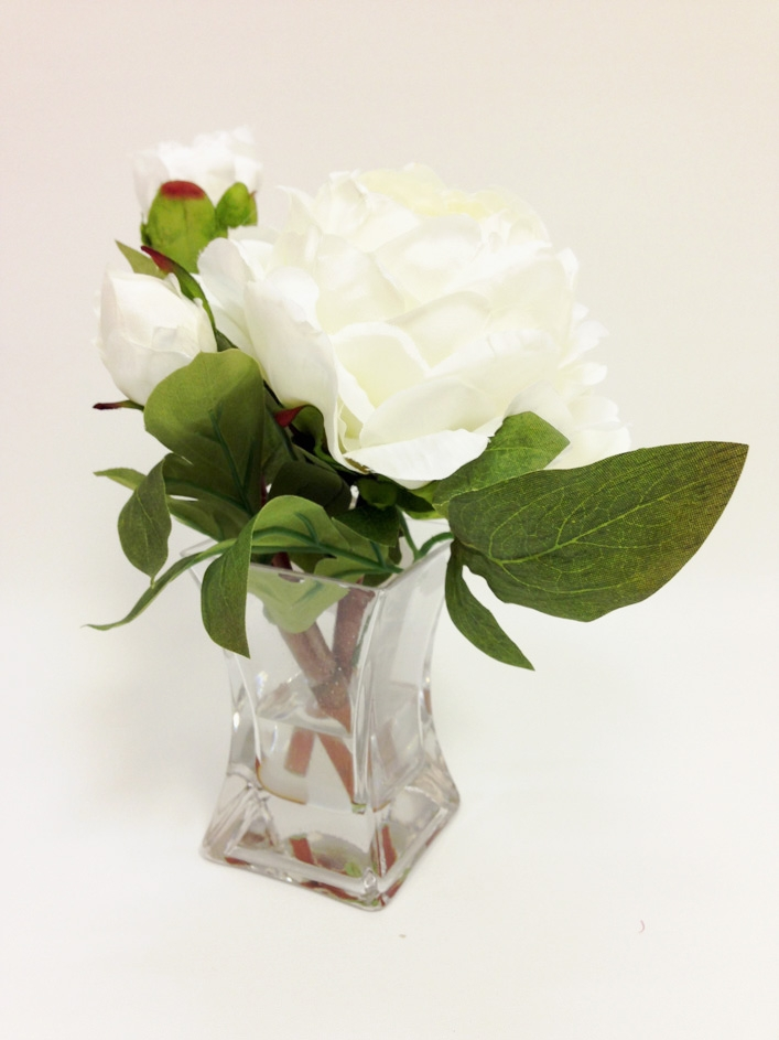 9 white peony silk flower arrangement glass vase laus flowers inc our mightylinksfo