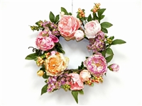 24 Inch Silk Flower Wreath