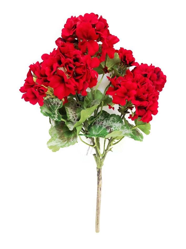 Buy artificial 18 red geranium silk flower our mightylinksfo