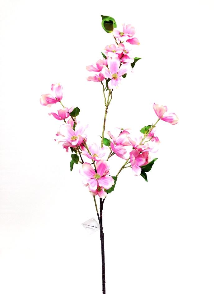 44 silk dogwood flower spray pink mightylinksfo Image collections