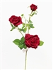 33 Inch Red Silk Rose Flowers Spray