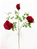 Large Silk Rose Flower Spray in Red Color