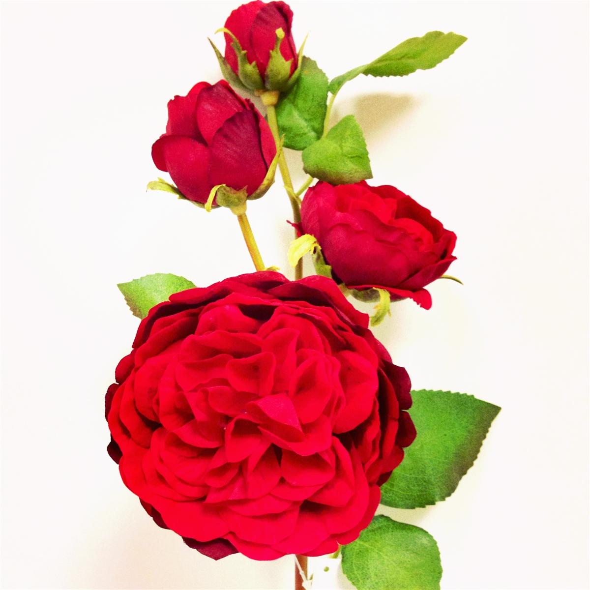 Red Rose Silk Flower Spray At Laus Flowers Inc