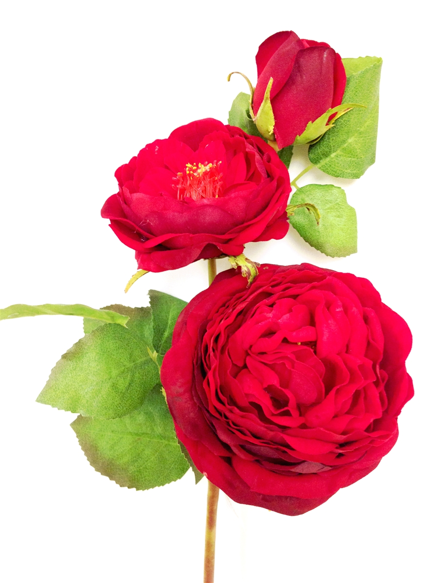 28 Inch Red Rose Silk Flower Spray At Laus Flowers Inc