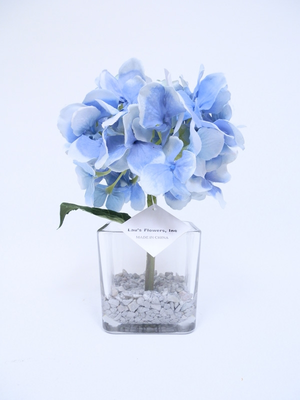 Get pink hydrangea silk flower arrangement in glass vase our mightylinksfo