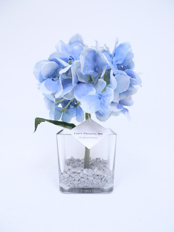 Get pink hydrangea silk flower arrangement in glass vase 13 pink color hydrangea silk flower arrangement glass vase mightylinksfo