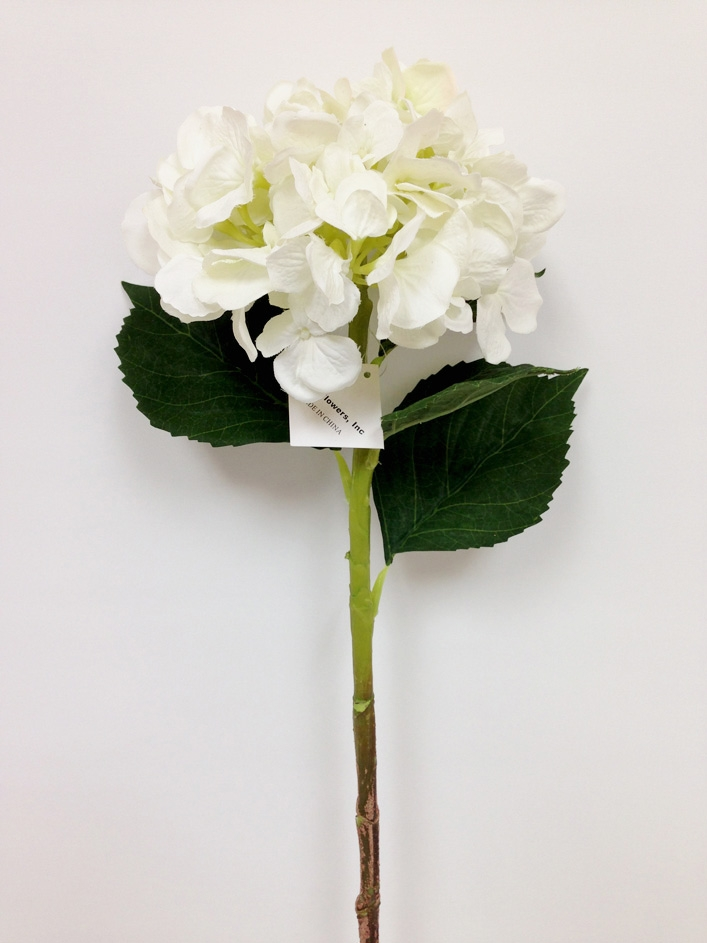 White hydrangea silk flower spray laus flowers inc our mightylinksfo