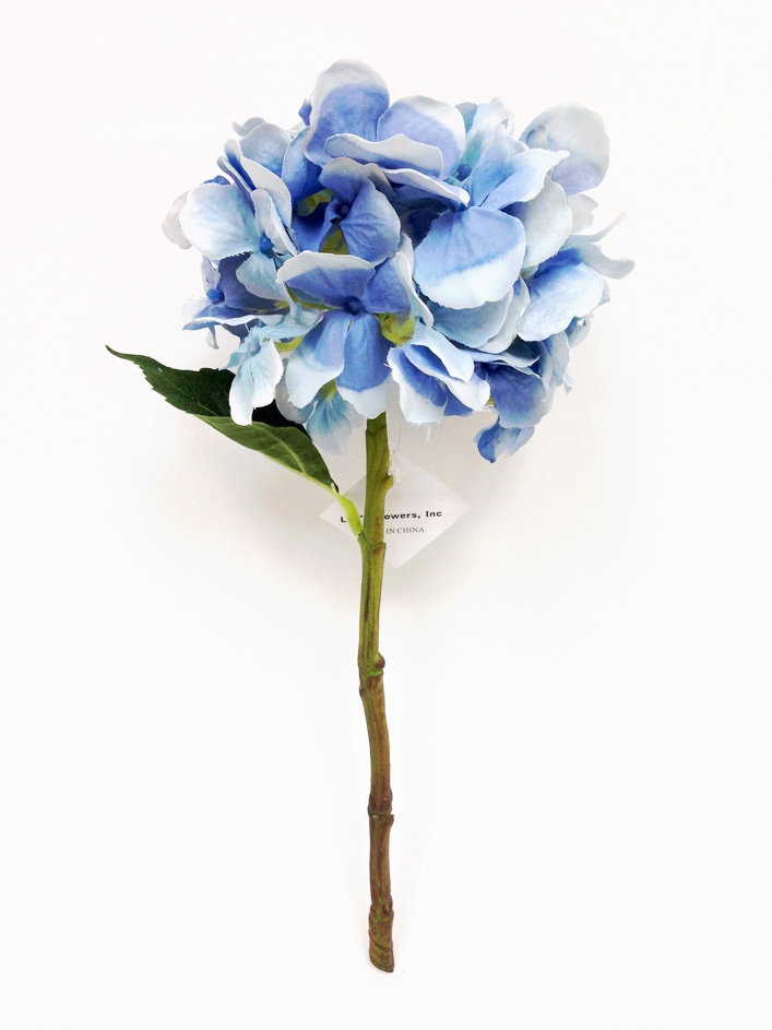 13 blue hydrangea silk flower pick mightylinksfo
