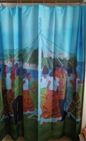 The Maypole Shower Curtain