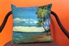 Relaxing on the Beach Throw Pillow