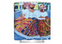 Quadrille Ladies Shower Curtain