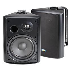 TIC 6 1/2 in. ASP-120B 120 Watt Outdoor Patio Speakers