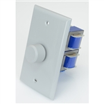 Outdoor In-Wall Rotary Volume Control. Impedance Matching - Gray