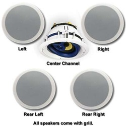 JA Audio Fully Rotating All Ceiling Mount Theater System