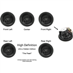 "InwallTech HD-650.1A High Definition 6 1/2"" Angled Front Virtually Invisible Ceiling Home Theater Speaker Kit"