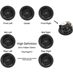 "InwallTech HD-650.1A High Definition 6 1/2"" Angled Fronts Virtually Invisible Home Ceiling 7.1 Theater Speaker Kit"