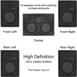 InwallTech High Definition Virtually Invisible Home Theater Kit --The Pioneer Square