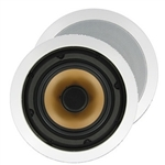 "InwallTech M65.1C 6 1/2"" Aluminum Virtually Invisible Ceiling Speakers"