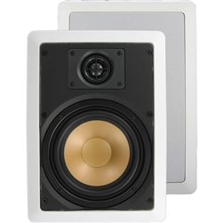 "InwallTech™ M65.1W 6 1/2"" Virtually Invisible Aluminum Wall Speakers"