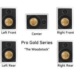 InwallTech Factory Direct Virtually Invisible Home Theater Kit Wall Mount --The Woodstock
