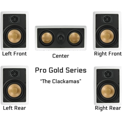 InwallTech Factory Direct Virtually Invisible Home Theater Kit Wall Fronts/Rears with Center Channel --The Clackamas