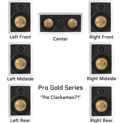 InwallTech Factory Direct Virtually Invisible Home Theater Kit Wall with Center 7.1 --The Clackamas71