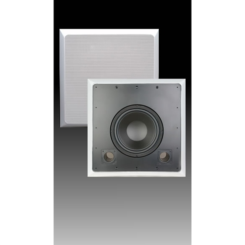 In Wall Subwoofer >> 10 Single Channel In Wall Subwoofer W Bezel Black White