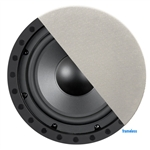 "8"" Frameless In-Ceiling Subwoofer with Poly Woofer - Black & White"