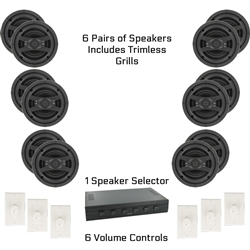 Complete Multi Room Audio System 6 Rooms - Best System