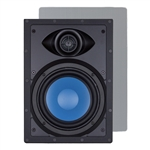"InwallTech® TM6W 6 1/2"" Virtually Invisible Aluminum Wall Speakers"
