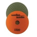 "Part#  1131500 Weha 4"" granite diamond polishing pad 1500 Grit"