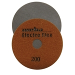 "Weha 4"" Electro Flex Marble Electroplated Diamond Polishing Pad 200 Grit"