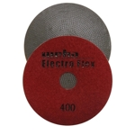 "Weha 4"" Electro Flex Marble Electroplated Diamond Polishing Pad 400 Grit"