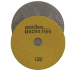 "Weha 5"" Electro Flex Marble Electroplated Diamond Polishing Pad 120 Grit"