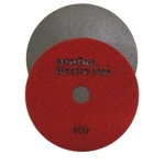 "Weha 5"" Electro Flex Marble Electroplated Diamond Polishing Pad 400 Grit"