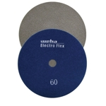 "Weha 7"" Electro Flex Marble Electroplated Diamond Polishing Pad 60 Grit"