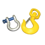 Part#  119791Weha Swivel hook with shackle for forklift boom. SIKA-SWIVEL HOOK type WHS 10-8