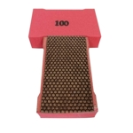 Cat # 13716 Weha Copper Diamond Hand Polishing Pad 100 Grit