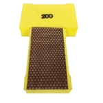 Cat # 13717 Weha Copper Diamond Hand Polishing Pad 200 Grit