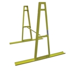 Weha Safety Yellow Granite and Stone A Frame Storage Rack Set with Crossbar