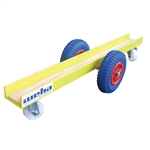 Weha Yellow Slab Dolly 4 Wheel Rubber Tires 800 lb Capacity
