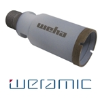 "Weramic 1 3/8"" CNC Porcelain Ceramic Core Bit 1/2 Gas Thread"