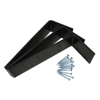 "10"" x 2-1/2"" x 1/4"" L Shaped Counter Top Support Bracket Set of 3 plus 12 Screws"