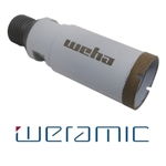 "Weramic 1 1/4"" CNC Porcelain Ceramic Core Bit 1/2 Gas Thread"