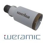 "Weramic 1 1/2"" CNC Porcelain Ceramic Core Bit 1/2 Gas Thread"