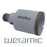 "Weramic 2"" CNC Porcelain Ceramic Core Bit 1/2 Gas Thread"