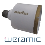 "Weramic 2 1/2"" CNC Porcelain Ceramic Core Bit 1/2 Gas Thread"
