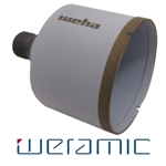 "Weramic 3"" CNC Porcelain Ceramic Core Bit 1/2 Gas Thread"