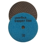 "Weha 4"" Copper Flex Diamond Polishing Pad 30 grit"